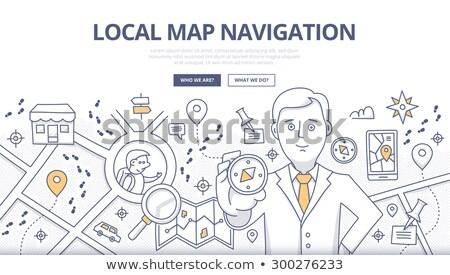 Geo Marketing Concept with Doodle Design Icons. Stock photo © tashatuvango