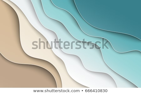Stock photo: Background waves of sand, vector illustration.