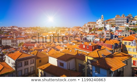 холме старый город Португалия реке мягкой свет Сток-фото © neirfy