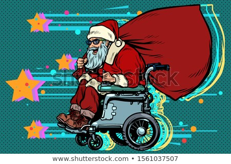 disabled Santa Claus is in a wheelchair, Christmas gifts Stock photo © studiostoks