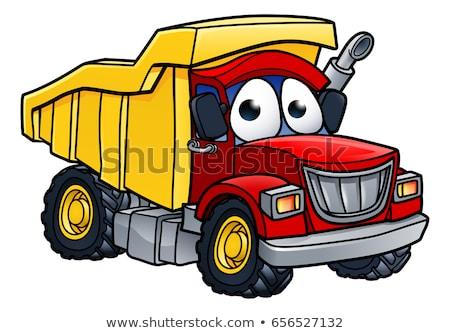 carga · camión · basura · eliminación · aislado · blanco - foto stock © krisdog