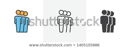 sosyal · ağ · adam · simgeler · wifi · bağlantı · dişliler - stok fotoğraf © ahasoft