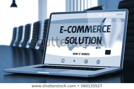 E-Commerce Solution Concept on Laptop Screen. Stock photo © tashatuvango