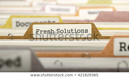 file folder labeled as fresh solutions stock photo © tashatuvango