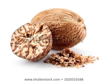 мускатный орех три продовольствие гайка макроса Spice Сток-фото © Hofmeester