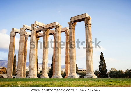 temple of the olympian zeus at athens greece   view from acropolis stock photo © ankarb