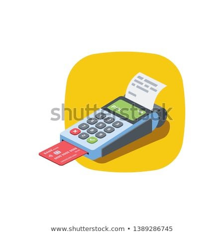 Credit card POS terminal isometric 3D icon Stock photo © studioworkstock
