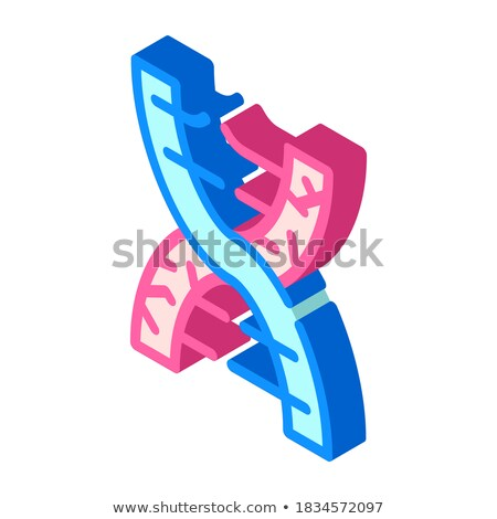 DNA isometric icon, isolated on color background Stock photo © sidmay