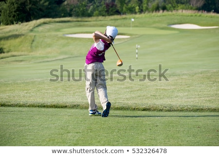 Golfista golf escuela fitness nino oscuridad Foto stock © IS2