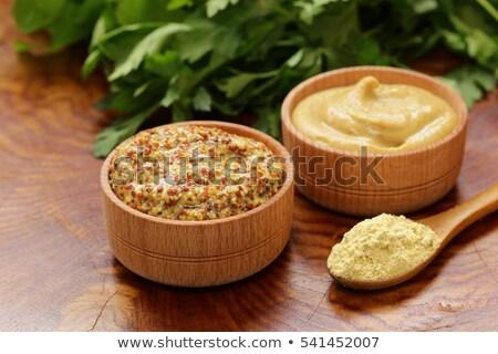 Francia mustár mártás finom házi készítésű klasszikus Stock fotó © zhekos