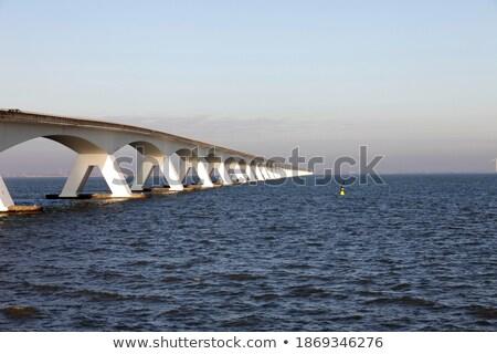 建設 日没 通り にログイン 橋 輸送 ストックフォト © Gertje