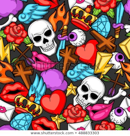 Meksyk · wektora · wzór · ikona · muzyki - zdjęcia stock © balasoiu