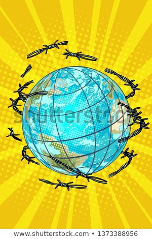 planet earth is barbed wire free stock photo © studiostoks