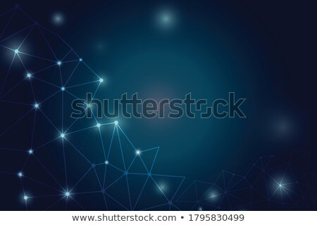 Abstract blue color science background with connection dots and lines Stock photo © designleo