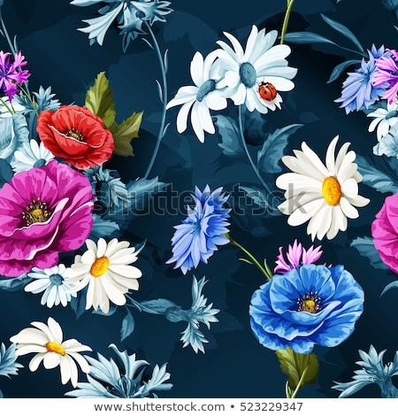 kék · virágmintás · elemek · virág · absztrakt · természet - stock fotó © articular