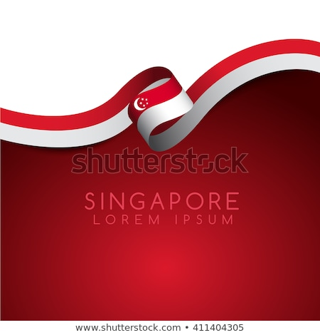 Singapore flag. vector illustration isolated on modern background with shadow. Stock photo © kyryloff