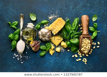 Ingredientes pesto salsa caer verde Foto stock © Melnyk