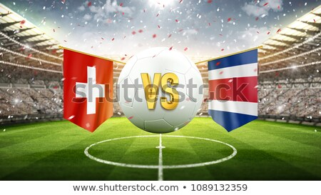 Football match Suisse vs Costa Rica football Photo stock © Zerbor