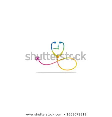 Stethoscope Clock Heart Concept Stock photo © Krisdog
