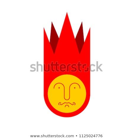 Meteorite isolated. Fire ball geometry. Vector illustration. Stock photo © popaukropa