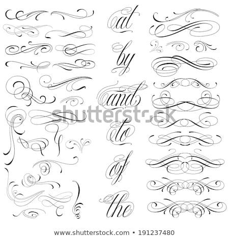 Decorative Floral Curls Stock photo © fixer00