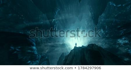 Karanlık mağara manzara örnek doğa arka plan Stok fotoğraf © bluering