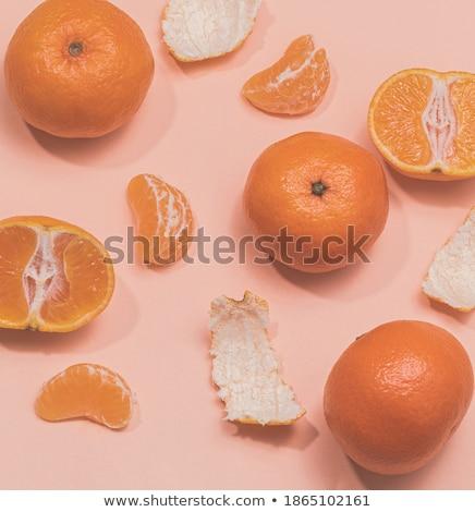 Descascado tangerina branco laranja doce orgânico Foto stock © Digifoodstock