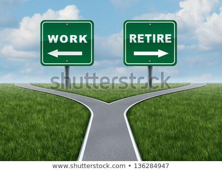 Munka nyugdíjba megy irányítás munkás készít döntés Stock fotó © Lightsource