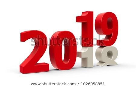 2019 year. Calendar for December. Isolated 3D illustration Stock photo © ISerg