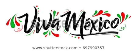 Lettering Viva Mexico traditional mexican holiday phrase Stock photo © MarySan