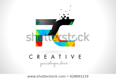 Magenta Icon of Letter F with a Triangle Vector Illustration Stock photo © cidepix