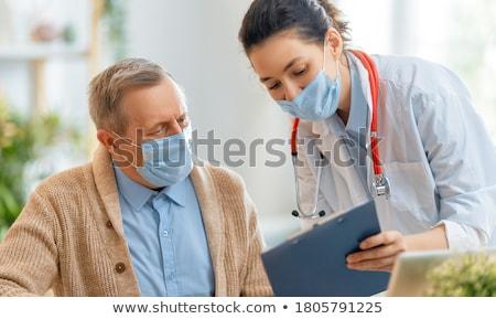 gripe · imagem · doente · parceiros · de · negócios · negócio - foto stock © lightsource