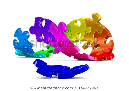 conceptual image teamwork on white background isolated 3d illus stock photo © iserg
