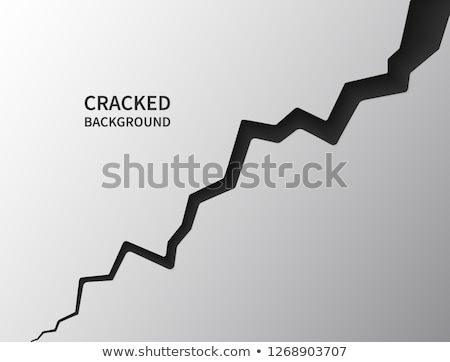 crack in surface rift in earth realistic fracture in wall vector illustration stock photo © olehsvetiukha