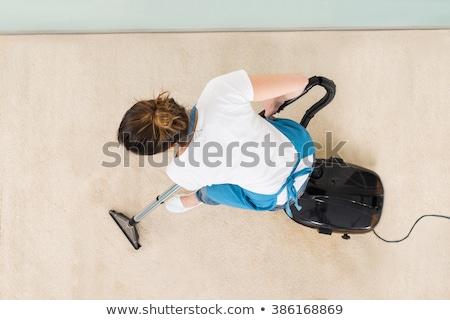 kadın · hizmetçi · elektrikli · süpürge · temizlik · zemin - stok fotoğraf © andreypopov