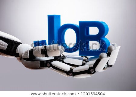 Robot Holding Job Word Stock photo © AndreyPopov