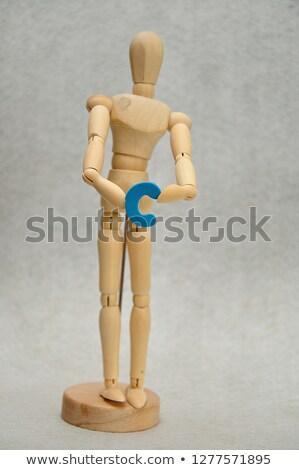 Ahşap manken renkli sıçraması arkasında ahşap Stok fotoğraf © ra2studio