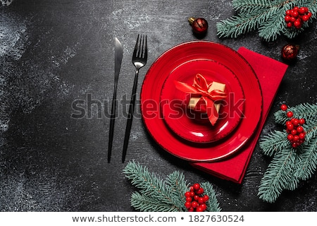 table set for Christmas Stock photo © adrenalina