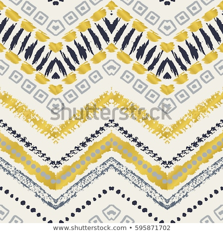Seamless Pattern with Gold and Black Ethnic Motifs Stock photo © lissantee