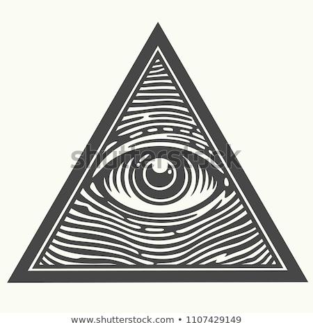 Uno ojo triángulo signo símbolo vector Foto stock © vector1st