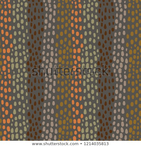 seamless abstract pattern in earth colors with hand drawn rounded shapes for textile clothing stock photo © pravokrugulnik
