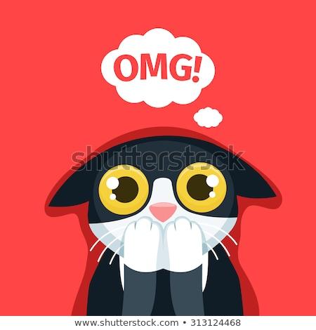 Cartoon Little Cat Scared Stock photo © cthoman