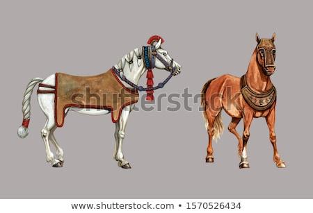 Krijger paardenrug soldaat standbeeld leger asia Stockfoto © craig