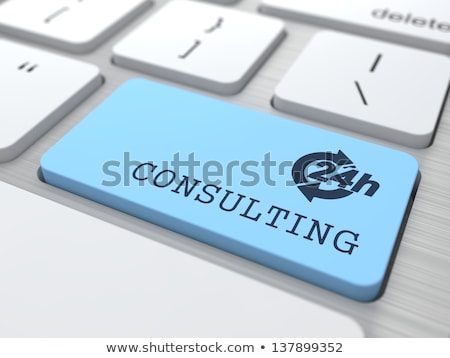 Consultancy Services - Message on Blue Keyboard Button. 3D. Stock photo © tashatuvango