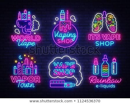Elektromos cigaretta pára vektor művészet Stock fotó © vector1st