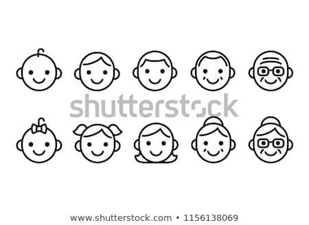 young teenagers boy and girl icons set vector stock photo © robuart