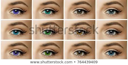 Homme yeux différent lentilles couleurs Photo stock © ESSL