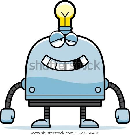 cartoon · weinig · robot · kunst · retro · tekening - stockfoto © cthoman