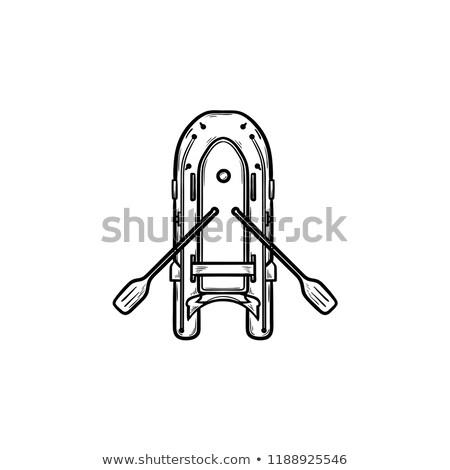 надувной лодка рисованной болван икона Сток-фото © RAStudio