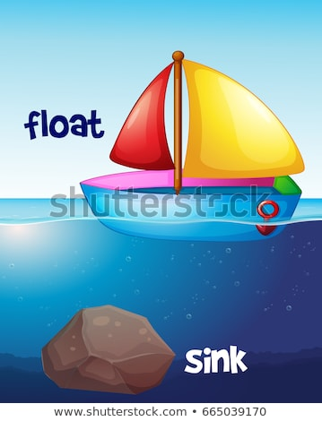 Opposite words for float and sink Stock photo © colematt